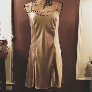 Victoria's Secret champagne silk slip chemise